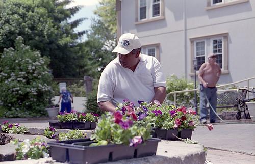 Jack planting flowers