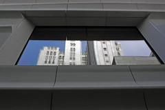 Pacific Bell Reflections (JB by the Sea) Tags: sanfrancisco california distortion reflection sfmoma financialdistrict sanfranciscomuseumofmodernart pacbellbuilding 140newmontgomery pacificbellbuilding june2016