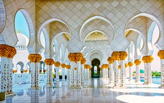 Sheikh Zayed Grand Mosque, Abu Dhabi (Rod Waddington) Tags: religious islam religion culture grand mosque east zayed middle abu dhabi sheikh cultural islamic