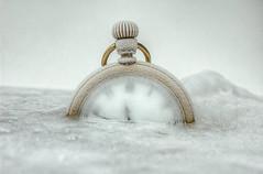 frozen in time (jonathon lynam) Tags: winter white ice gold frozen watch 1855mm 1855 hdr pocketwatch nikond40 nikonphotography macromondays nikcollection