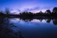 La hora mgica. (Agudevani) Tags: parque sunset sky argentina rio azul canon river atardecer bell hora cordoba ville magica 600d