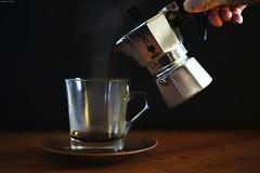 Homemade Coffee (Iyhon Chiu) Tags: coffee brewing homemade d750 pouring  bialetti 2015   bialettimokaexpress mokapot mokaexpress