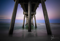 Under the Pier (K. Freese) Tags: longexposure landscapes light florida floridagulfcoast panamacitybeach places travel structure pier sunrise scenery beach gulfcoast color gulfofmexico emeraldcoast ocean water outdoors beautiful serene nikon nikonphotography d7100 depthoffield reflections nature sunshinestate sunshine sunlight architecture column clouds sky