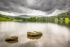 Rydal Water. (Ian Emerson) Tags: lake mountains water beauty clouds landscape rocks moody stones grasmere lakedistrict valley cumbria ambleside hoya rothay ndx400