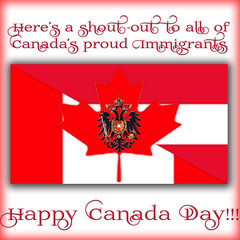 Happy Canada Day!!!! (Koko Nut, it's all about the frame) Tags: holiday square leaf redwhite eagle flag pride frame canadaday immigrant 2016
