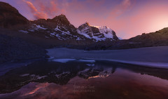 Athabasca Sunset (Javier de la Torre Garca) Tags: sunset lake canada reflection night rockies lago atardecer lights jasper canadian glacier reflejo peaks northern glaciar picos athabasca rocosas cumbres px4u lucroit javierdltcom javierdltes photoexperience4u