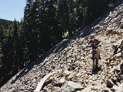 Riding the scree (Ben McLeod) Tags: bike mtb mthood scree campbell