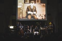 Visioni Sonore 033 (Cinemazero) Tags: jazz biblioteca chiostro pordenone busterkeaton cinemamuto jorisivens cinemazero zerorchestra visionisonore claudiocojaniz giannimassarutto massimodemattia