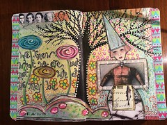 Miquelrius Art Journal Page (T.Goller) Tags: girl zetti whimsy mixedmedia art collage artjournal whimsical