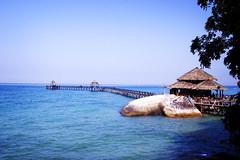 Paradise (KatieSh) Tags: malaysia travel nikond40 nikon bagusplace paradise sea tioman jetty ocean holiday