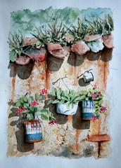 Betancourt Jaime, Acuarelas, 2004, Paris, (jlfaurie) Tags: betancourtjaime acuarelas 2004 paris jlfr mpmdf jlfaurie mechas exposition betancourt jaime france colombiano colombian painter peintre colombien pintor acquarelles watercolor