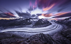 "Aletsch Glacier: ""Fire and Ice"" (Frederic Huber 