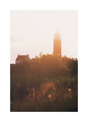 Lighthouse () Tags: nikonf80 filmisnotdead slidefilm fujichrome velvia 50 nederland decocksdorp texel vuurtoren lighthouse eveninglight evening wideopen nikkor 135mmf2dc