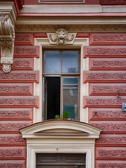 The last warm days / Последние теплые дни (Vladimir Serebryanko) Tags: streetphoto color red russia stpetersburg saintpetersburg spb house window wall hdr