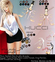 H U C C I @ Ephiphany Oct 2016 (Eboni Khan) Tags: hucci secondlife sl epiphany october 2016 mesh sandal slink maitreya belleza lara hourglass gold silver