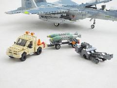USAF ground equipment (Mad physicist) Tags: lego aircraft handling equipment bobtail pickup usaf mhu141 mj1