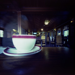 Pass the Cup (george.bremer) Tags: 6x6 blur breakfast c41 coffee cup ektar100 epson film hotel kodak longexposure motion mountainbrook ondu pinhole scan table unicolor v750 vuescan