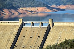 Shasta Dam (JamesV34) Tags: lake water dam reservoir drought shastalake shastadam