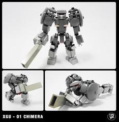 XGU(experimental ground unit ) - 01 Chimera (Commander626) Tags: mobile lego ground 01 frame combat zero chimera mech unit hardsuit xguexperimental