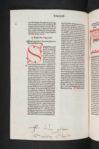 Monastic ownership inscription in  Biblia latina