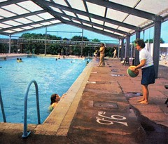 Pontins Hemsby Holiday Camp - Photo from 1972 brochure (trainsandstuff) Tags: vintage norfolk retro swimmingpool archival pontins holidaycamp hemsby maddiesons