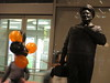 Ralph Kramden with Halloween Balloons 2014 NYC 0359 (Brechtbug) Tags: new york city orange holiday black bus halloween statue bronze port balloons lunch is jackie uniform with authority tie front terminal an midtown his while jolly gleason ralph stands drivers straightening pail clutching clad 2014 manhattans honeymooners kramden eightfoottall kramdon