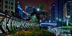 Sao Paulo Downtown Connections (Carlos Alkmin) Tags: city light cidade brazil arquitetura brasil skyline architecture night outdoors downtown saopaulo footbridge centro central citylife s structure vale sampa sp walkway noite saintpaul repblica sanpablo sanpaolo prefeitura passarela anhangaba viadutodoch valedoanhangaba terminalbandeira palacetematarazzo