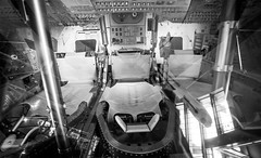 gumdrop (angeloangelo) Tags: blackandwhite bw history museum sandiego space wide capsule wideangle historic nasa cm couch seats spaceship apollo canonef1740mmf4lusm 1740 northamerican gumdrop apollo9 sandiegoairspacemuseum 5dmarkii comandmodule