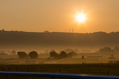 Cheltenham Racecourse (PIX SW) Tags: mist sunrise cotswolds gloucestershire racecourse cheltenham cleevehill cheltenhamracecourse