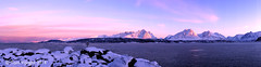 Breivikeidet pano (tmv_media) Tags: pink winter light sea sky snow mountains cold norway landscape landscapes norge pano sony north panoramic arctic norwegian tokina land alpha northern artic a77 troms noorwegen norja northernnorway breivikeidet northofthearcticcircle abovethearcticcircle slta77v a77v above66degrees