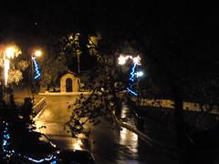 (Psinthos.Net) Tags: road christmas bridge trees winter rain night december nightlights pavement sidewalk ornaments raining paved eucalypts christmasornaments wetroad planetree  agiosnikolaos nightlighting vrisi agiosnikolas psinthos                     vrisiarea  vrisipsinthos  siantnicolas