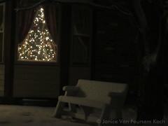 December 25, 2014 - Snow and Christmas lights brighten up Thornton. (Janice Koch)