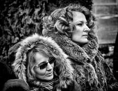 Sisters (Constantin Florea) Tags: life street city girls portrait people urban blackandwhite bw woman monochrome face lady blackwhite faces candid streetphotography monotone streetphoto capture