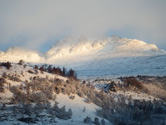 "Sun hitting the ridge (nz_willowherb) Tags: morning trees winter cloud sun snow see scotland early tour perthshire visit ridge rays tarmachan to"" ""go"