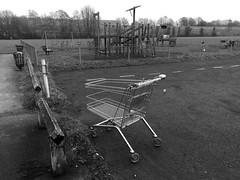 Urban playground 4/365 ( Georgie R) Tags: field playground trolley railwayline