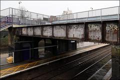 Nekah (Alex Ellison) Tags: urban station graffiti boobs footbridge tag railway damage graff northlondon neka 1t nekah neks