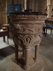13th Century Font, St Mary de Castro (Aidan McRae Thomson) Tags: church leicestershire leicester medieval font stmarydecastro