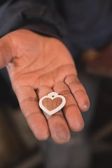 When Narcisse found out we were honeymooners he inlayed a heart pendant for us!