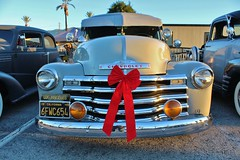 Mooneyes X-Mas Party 2014 (USautos98) Tags: christmas chevrolet truck chevy bomb lowrider 1949 panelvan thriftmaster