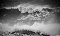 Biarritz. (Jérôme Cousin) Tags: bw white black monochrome nikon noir waves sigma wave nb 64 28 monochrom vague vagues et pays blanc basque 70200 euskadi biarritz bab euskal herria herri d700
