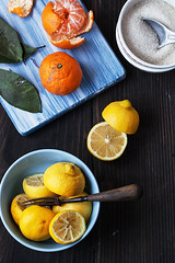 Mandarins and Lemons (saraghedina) Tags: winter cooking vertical fruit canon vintage bread lemon rustic nopeople bowl 100mm homemade mandarin citrus jam canning foodphotography foodstyling