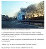 BBC News   A45 bus fire  Police escort for Northampton mum to be