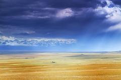 Light and Storm (craigkass) Tags: china autumn xinjiang centralasia grasslands bayanbulak
