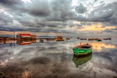 Colours of Karina (Nejdet Duzen) Tags: trip travel sunset reflection turkey boat fishing trkiye sandal karina gnbatm yansma turkei seyahat aydn kayk dalya ske balklk