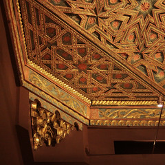Ceiling Geometry (lefeber) Tags: wood nyc newyorkcity newyork architecture stars ancient interior angles ceiling tiles artmuseum themet metropolitanmuseumofart inlay islamicart