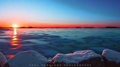 Sunrise in Ostrobothnia (Anna Grönlund) Tags: sunset sky snow ice water colors beautiful sunrise finland skyscape landscape nikon earth d4 ostrobothnia nikonflickraward nikonflickrawardgold nikod4