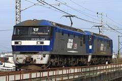 EF210-144 + EF210-145 Double headding (Kaz_0609) Tags: railroad japan train canon eos jr el locomotive jrf  doubleheading ef210  jr eos7d yosanline