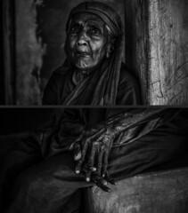 Portrait of Hardlife (ayashok photography) Tags: portrait india portraits asian blackwhite fishing fisherman nikon diptych asia indian desi bharat bharath desh barat barath manapad nikkor24120mmvr nikonstunninggallery manapadu ayashok kulasekarapattinam kulasai ayashokphotography fisherycoast ayp7603
