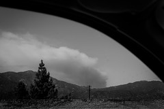 Fire Season (Rachelle Mendez) Tags: california blackandwhite landscape smoke wildfire sangabrielmountains 210 californiafire fireseason nakedlandscape thisiscalifornia explorecalifornia