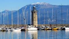 Desenzano: il faro -desenzano - garda - the lighthouse (Roberta Doro S.) Tags: lighthouse mountain lake water faro boats lago garda barche sail acqua montagna desenzano lakegarda vele baldo mountainos nmonte